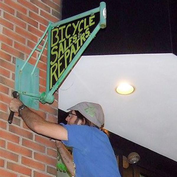 Freeze Thaw Sign installation Calder Way