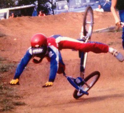 Chuck BMX Crash